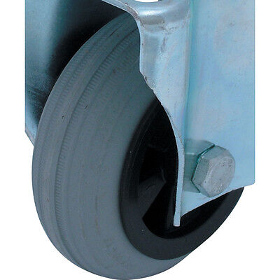 Atlas Workholders 80Mm Grey Rubber Plastic Tyre-Plain Bore