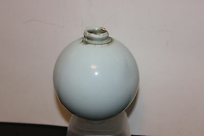 (AA-10802,B10) ANTIQUE  Lightning Rod Globe/Ball, Powder Blue, Used, Milk Glass?
