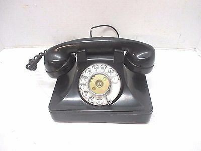 Vtg. North Electric Rotary Dial Telephone Galion Ohio Black Desk Phone Bakelite