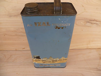Vintage Old Izal Product Oil Advertising Tin
