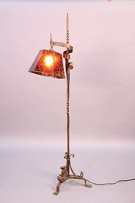 1920s Antique Floor Lamp Vintage Spanish Revival Light Tudor Lighting (9922)