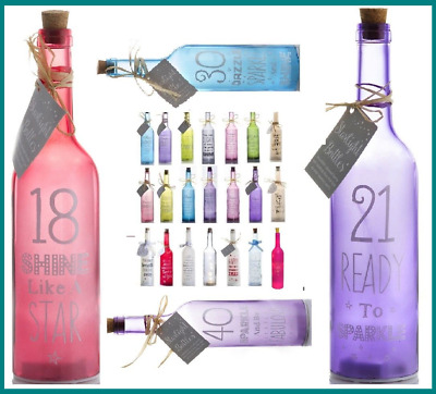 Starlight Bottles LED Light Up Decoration Any Occasion Gift Assorted Designs New