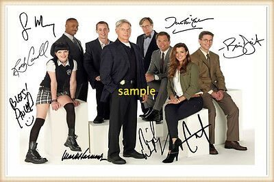 NCIS cast, signed autographed poster print, choice of frames / sizes, mint