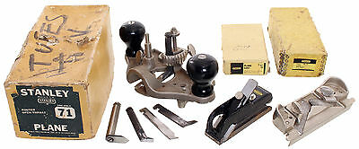 Three Extra Clean Stanley Planes - No. 71 Router ,79 Rabbet, 75 Bullnose Block