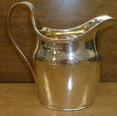 George Iii Sterling Silver Creamer 1796 Robert And David Hennell