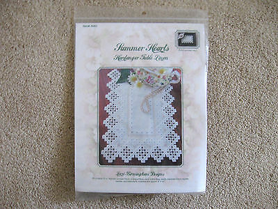 Summer Hearts Kit Lorri Birmingham Hardanger Table Linen