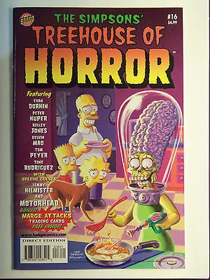 Mars Attacks Spoof, Bongo Comics Marge Attacks cards and graphic sheet. NM/MINT