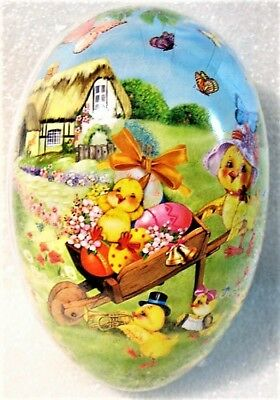 Vintage Paper Mache Easter Egg (4.5x3) CHICK PARADE Sealed MINT Made in Germany