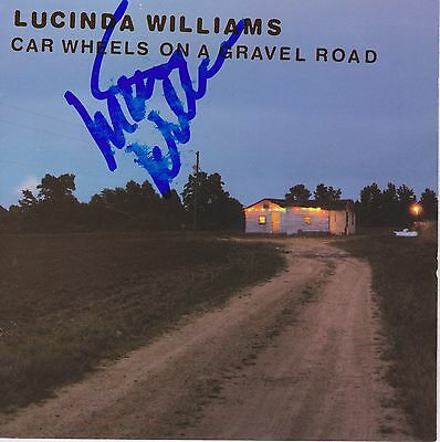 Lucinda Williams signed Car Wheels on a Gravel Road cd