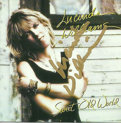 Lucinda Williams signed Sweet Old World cd