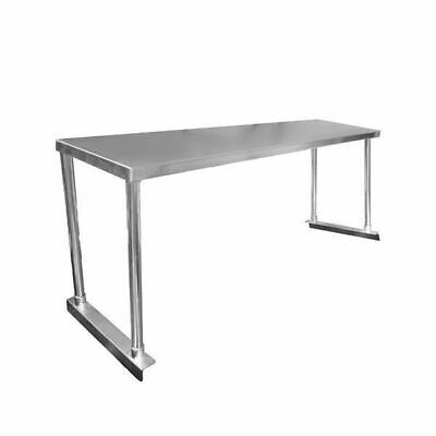 Overshelf for Benches, Single Tier, Stainless Steel, 1200x300x450mm, Commercial