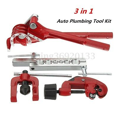 Heavy Duty Plumbing Tool Kit Copper Pipe Cutter, Tube Bender, Flaring Expander