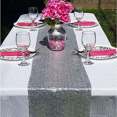 30*275CM Satin Table Runner Wedding Party Banquet Decoration Supply Multicolors