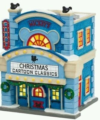NEW Dept 56 Disney Christmas Village Mickey Mouse Cinema 4038630 Theatre RETIRED