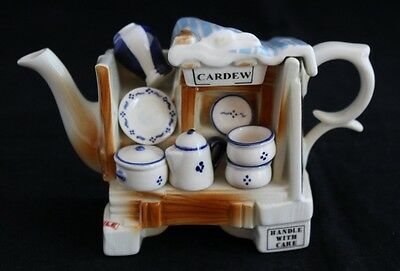 VINTAGE Miniature PAUL CARDEW DESIGN COLLECTABLE TEAPOT stall with pottery