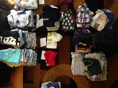 Baby Boy Newborn 0-6M Clothes Lot ONSIES PANTS HOODIES OVERALLS HATS