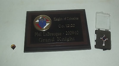 Neat Knights Of Columbus Pin And Plaque