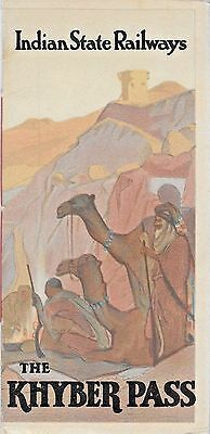 BROCHURE & MAP ~ The KHYBER PASS, INDIAN STATE RAILWAYS,  Bombay, INDIA c1934