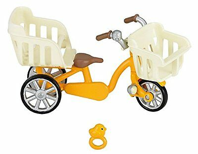 Epoch Calico Critters furniture three people riding bicycle