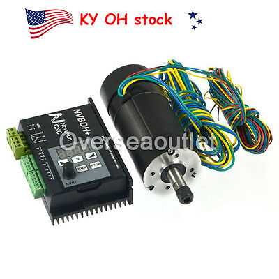 US Brushless Motor Driver w Hall Controller 400W CNC Motor f Spindle Engraving