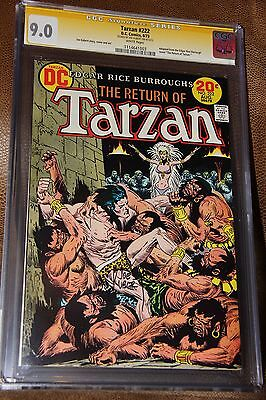 Tarzan #222 CGC SS 9.0 Signed Joe Kubert 1973