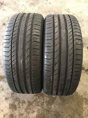 255/55/18 Continental Contact 5 Used Runflat X 2 Tyres