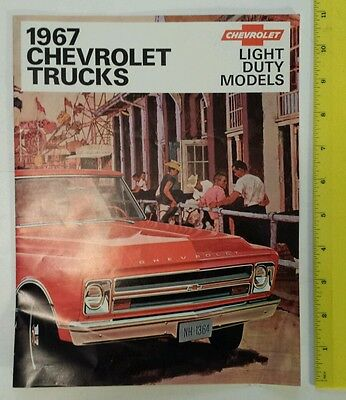"Rare, Original ""1967  Chevrolet Trucks"" New Model Showroom Brochure-16 Pages"