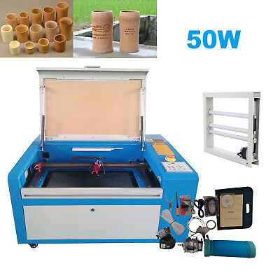 50W Laser Engraving Cutting Machine CO2 Engraver Cutter High Precise USB Port