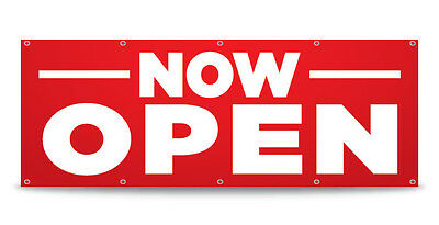 NOW OPEN Banner Sign Grand Opening Business Vinyl - FREE CUSTOM TEXT!