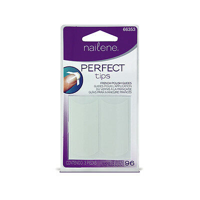 1 Pack Of 96 Nailene Perfect Tips French Polish Guides High Quality