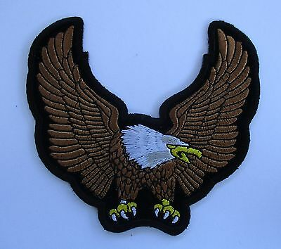 Brown Upwing Eagle patch Quality Embroidered Sew/iron on Men's shed biker vest