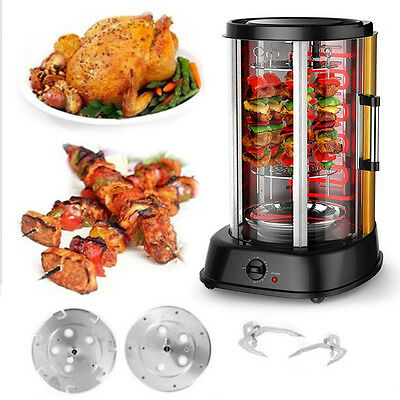 31L Vertical Rotisserie Electric Grill Meat BBQ 1800W Kebab Rotating Skewer