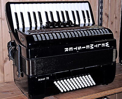 New Weltmeister Achat 72 bass accordion, soft musette tuning, see youtube demo