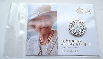 2016 UK Queen's 90th Birthday Fine silver £20 coin
