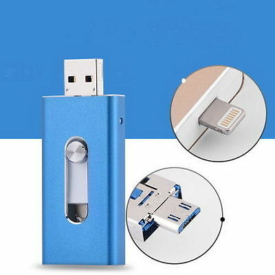 128GB Storage USB i Flash Drive Memory Stick U Disk for iPhone 6 6S iPad Android