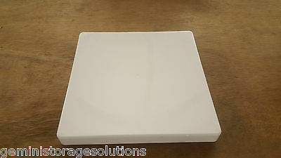 NEW 8 x 8 Solid White PLASTIC CRAFT  STORAGE BOXES