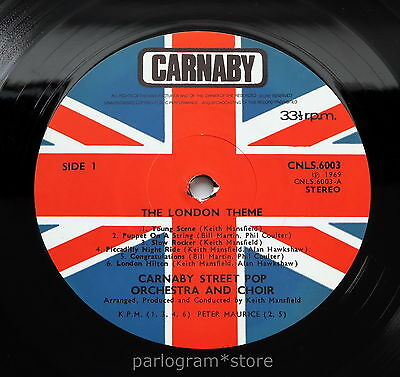 Keith Mansfield/Carnaby St. Pop Orch & Choir - The London Theme UK 1969 *LISTEN*