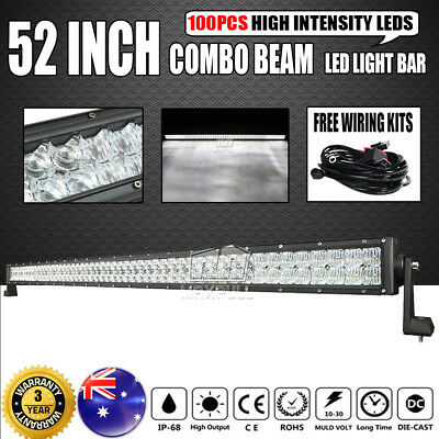 52Inch 2808W Philips Led Light Bar Spot Flood Combo Driving Lamp Offroad 4x4WD