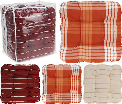 Contemporary Garden Furniture Cushion Pads 4 Outdoor Dining Chair Bench Cushions