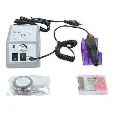 New Professional Manicure Pedicure Electric Drill File Nail Art Pen Machine Kit