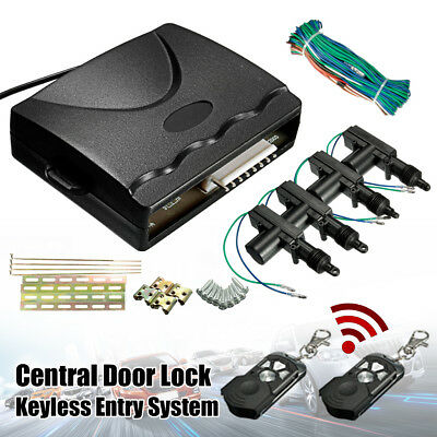 2/4 Door Remote Control Car Central Locking Security System Keyless Entry Kit