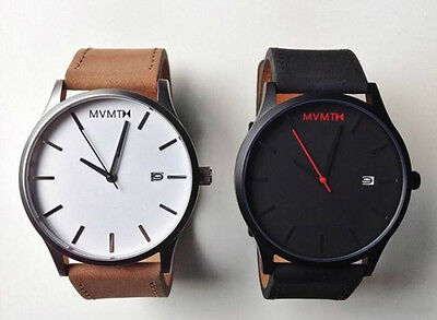 Fashion men's leather watch with calendar sport casual watch mens wristwatches