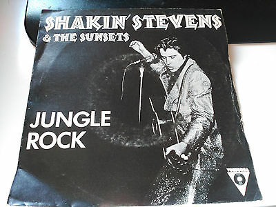 Single Shakin' Stevens And The Sunsets - Jungle Rock -Victoria Spain 1982 Vg/vg+