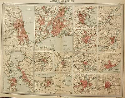 1920  Large  Map : Sketch Plans Of American Cities