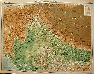 1920  Large  Map : India, North Western Section