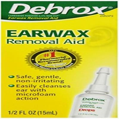 Debrox Earwax Removal Drops 0.5 Fluid Ounce Soft New