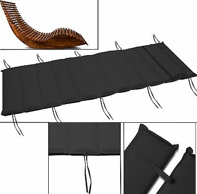 Replacement Sun Lounger Cushion Garden Pad Reclining Chair Cover Outdoor Αnthrac
