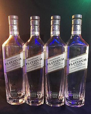 Johnnie Walker Platinum Label Bottles - Lot of 8 empty