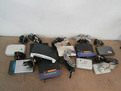 10 x Mixed Job Lot Router Switch Access Point WN604 3CGSU05 & MORE + Adapters !