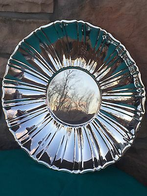 "Wallace Silverplate Footed Low Centerpiece Bowl or Platter - 15"" Diameter"